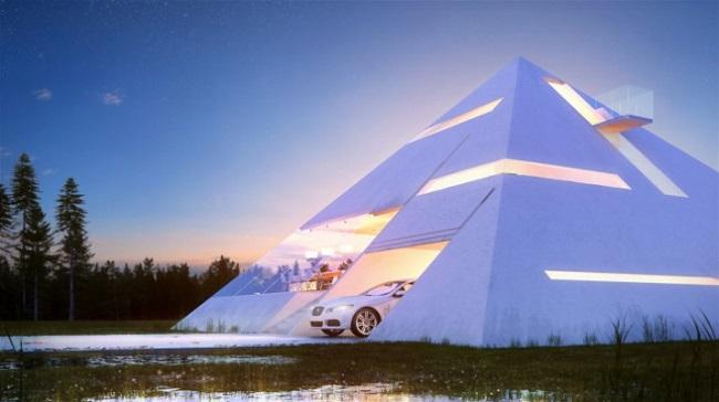 概念来自埃及法老王的金字塔